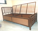 Bed with Storage With Jalli Top