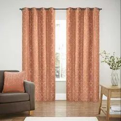 52 x 60 inch Red Jacquard Blackout Curtain