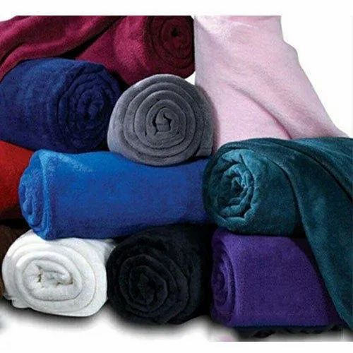 Blankets - Gifting (Coral Solid Double Bed Blanket