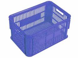 Mesh Blue Plastic Crate