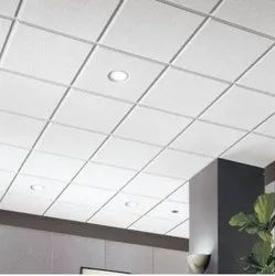 White Coated Armstrong False Ceilings, for Hospital