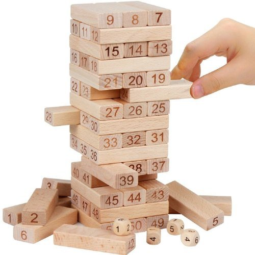 Mayatra's 400 Pcs Blocks 40 Dices Wooden Jenga Tower Game Awesome Games With Wooden Blocks