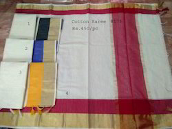 Plain Cotton Saree