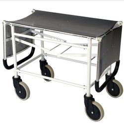 Double Fold Patient Stretcher Trolley MS Frame and With S.S Top