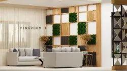 Modular Kitchen & Wardrobe living room interior designer, Work Provided: Wall Paper/Paint Work
