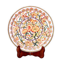 Floral Design Marble Plate