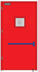 Emergency Exit Doors (Single Leaf With Glass Panel)