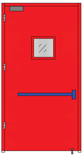 Emergency Exit Doors (Single Leaf With Glass Panel)  sc 1 st  IndiaMART & Emergency Exit Doors (double Leaf With Glass Panel) Emergency Exit ...