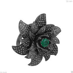 Flower Cocktail Diamond Ring
