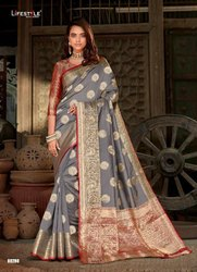 Stitched Hand Wash Fancy Saree, Without blouse piece, 5.5 m (separate blouse piece)