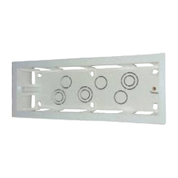 White PVC Surface Box for Electric Fitting, Module Size: 2-18 Module