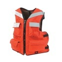 Orange Polyethylene Marine Reflective Life Jacket