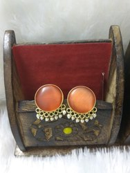 Festival Brass Fancy Designer Earrings