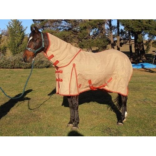 Hessian Horse Jute Rugs Polar Fleece