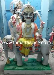 Vishwakarma Sitting on Elephant Moorti