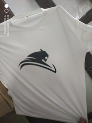 T-shirts Polyester T Shirt -White, Age Group: Medium Large Xl, Size: Large