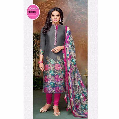 b80965d5d5 Multi-color Chanderi And Cotton Partywear Ladies Suit, Rs 799 /piece ...