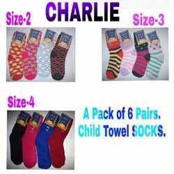 Girl & Boy Cotton Child Towel Socks, Size: Small