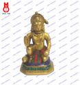 Hanuman Sitting On Hexagonal Base W/Stone Work Statue