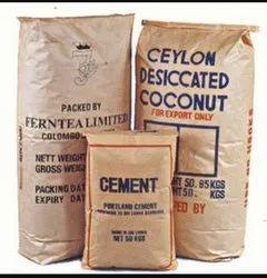 Brown Gurukrupa Paper Laminated HDPE Bag, Storage Capacity: 15 To 50 Kg