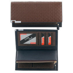 Leather Brown Ladies Stylish Wallet