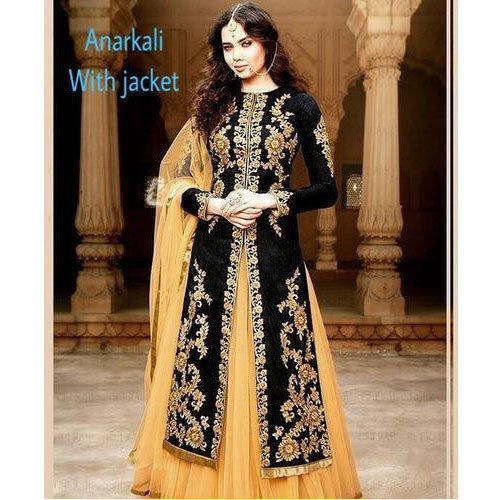 aea7bd2060 Printed Anarkali Suit With Jacket, Rs 6000 /piece, Pandit G Fabric ...