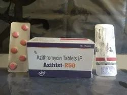 Azihist-250 Azithromycin 250mg Tablets, 60 Tablets