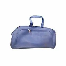Polyester(Outer) Blue Casual Duffel Travel Bag