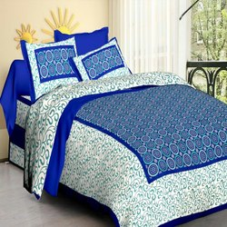 Screen Double Printed Bedsheet With Pillow
