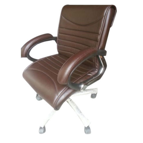 Brown Leather Office Chair Bombay Model