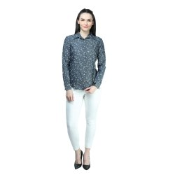 Full Sleeves Cotton Ladies Printed Shirt