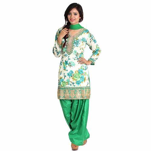 0273bd2359 Printed Patiala Suit, पटियाला सूट - M D Textiles, Delhi ...