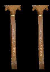 Antique Wooden Pillar - Square - 7 Feet