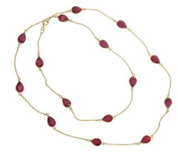 Dyed Ruby Hydro Gemstone Necklace