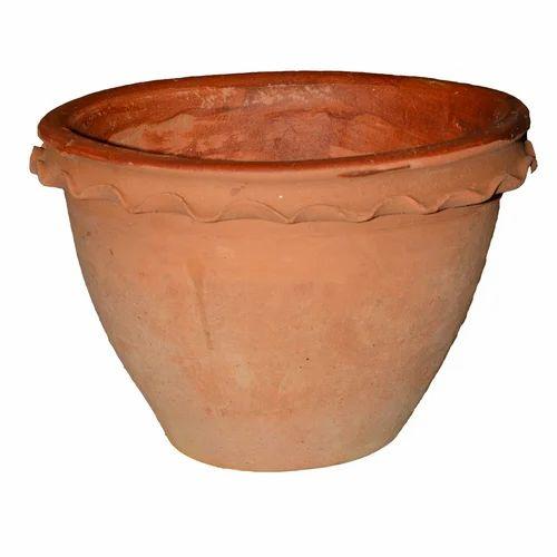225 & Garden Item - Clay Flower Pot(Colour - Red Size- H-15 cmL-17cmW ...