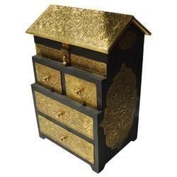 Wooden Hut Drawer With Brass Work