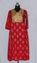 Ladies Partywear Kurti with Brocade Yoke Design
