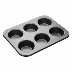 6 Cavity Cup Cake Mould
