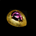 Gold Plated Multi Gemstone Indian Fashion Ring for Girls