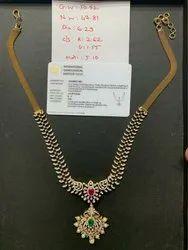 真钻石派对,婚礼镀金钻石项链,包装类型:盒子