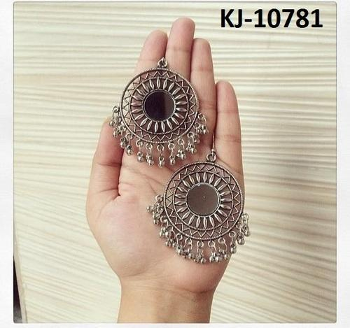 f81b132a4 Silver Oxidized Afghani Mirror Earrings, Rs 55 /pair, Kaizer ...