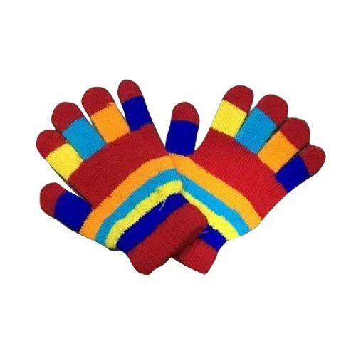 Sanju King Full Fingered Multicolor Kids Woolen Hand Gloves, Rs 20 /set |  ID: 16492491488
