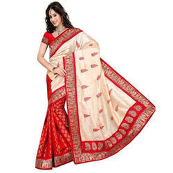 Bhagalpuri Silk Multicolor Saree, Length: 6.25 meter