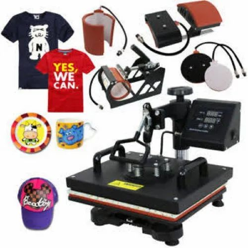 cef99718 T Shirt Printing Press 5 In 1, Capacity: 1-50 Pieces/hour, Rs 11950 ...