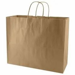 Brown Craft Paper Carry Bag, Features: Eco Friendly, for Shopping