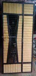 Metal Hinged safty door, For Home