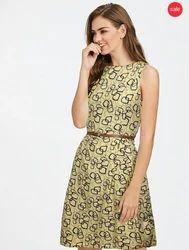 Brown Heavy American Crepe Exclusive Designer Dress Gown
