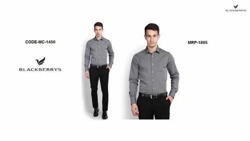 d04e1fac Blackberrys Cotton Collar Neck Plain Shirts, Rs 995 /piece   ID ...