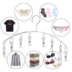 Kawachi Stainless Steel Clip Hanger For Drying Small Clothes, Underwear, Baby Clothes, Socks, Napkin
