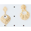 Leaf Shape Gold Earrings